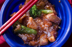 Chicken, Rice, & Broccoli (McDaiquri) Tags: food chicken dinner yum rice broccoli delicious asianfood foodie foodphotography sweetandsourchicken chienandbroccoli