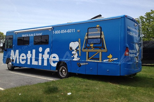 Rv wrap graphics for Metlife  Dallas, tx