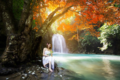 20131031_235 (Patrick Foto ;)) Tags: wood summer portrait people woman white mountain lake green nature water girl beautiful beauty smile fashion yellow lady female forest river season asian thailand happy person reading book waterfall leaf pond pretty day sitting dress adult outdoor background joy dream young relaxing sunny shore teenager romantic concept lovely elegant joyful relaxation kanchanaburi thakradan