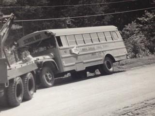 THOMAS BUILT BUS.  1964 Ford, NC School Bus.  Digitized from print.