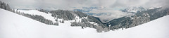 Alps (Katka S.) Tags: panorama snow ski mountains alps clouds forest austria skiing alpine slope