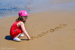 There it is!! (karllaundon) Tags: family sea summer sun cute beach fun happy seaside day child laugh northeast rockpool redcar
