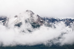 Bow Range in the Clouds (MichellePhotos2) Tags: park canada mountains clouds nikon cloudy overcast alberta banff rockymountains peaks banffnationalpark candianrockies bowrange d800e nikond800e