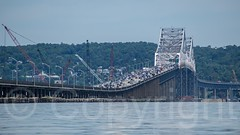Tappan Zee Bridge over the Hudson River, New York (jag9889) Tags: bridge usa ny newyork river crossing unitedstates unitedstatesofamerica kayaking hudsonriver paddling nyack waterway westchestercounty tarrytown cantilever 2014 rocklandcounty northriver navigable k004 jag9889