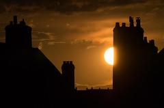 Halfsun (simtimoth) Tags: street sunset clouds lumix rooftops chalonsursane 1442mm dmcgx1