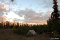 Camping at Eagle Plains (muratGu) Tags: cycling tour yukon eagleplains dempsterhighway file:name=imgd20140707001