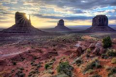 MPW_1590_1_2_3_4_tonemapped (Michael-Wilson) Tags: sunset arizona sky sun monument clouds sunrise utah ut az landmark formation nativeamerican valley sunburst tranquil reservation michaelwilson michaelwilsoncom