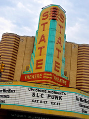 State Theatre, Ann Arbor, MI (Robby Virus) Tags: cinema sign marquee punk theater neon state theatre michigan annarbor signage movies slc
