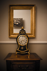 036:365 (isaak-fotografie) Tags: wood old clock oneaday canon dark mirror golden time 365 usm 2014 f456 project365 365days timeisticking canoneos6d ef35135mm