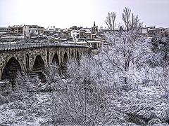 Puente de Piedra en invierno (Luicabe) Tags: sony luis p93a dsc zamora cabello yarat1 enazamorado