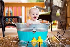 Bubble Bath (Mark Payton Photography) Tags: boy portrait baby montana bubblebath naturallight missoula grandson porch frontporch rubberducks brody washtub rubberduckies canonef85mmf12lusm canon5dmkiii markpaytonphotography
