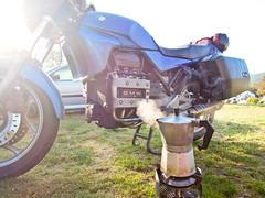 Breakfast (zahn-i) Tags: travel coffee norway breakfast norge reisen norwegen kaffee bmw motorcycle espresso touring primus 2014 kocher k75c bialletti biletti