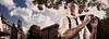 The Photographer (Jon Webb's photos) Tags: camera portrait white selfportrait painterly man male netherlands shirt composite self neck lens utrecht domtoren comic photographer dom nederland tie retro cap cover flare suspenders davehill facebook adriansommeling