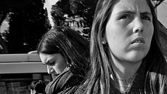 Close to you. (Baz 120) Tags: candid candidstreet candidportrait city candidface candidphotography contrast street streetphoto streetcandid streetphotography streetphotograph streetportrait rome roma romepeople romestreets romecandid europe women monochrome monotone mono blackandwhite bw noiretblanc urban voightlander12mmasph life leicam8 leica primelens portrait people unposed italy italia girl grittystreetphotography faces decisivemoment strangers