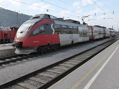 Train spotting at Hall-in-Tirol Bahnhof