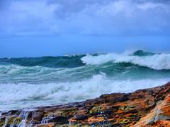 sml-fhdr-DSCN0238 (elphweb) Tags: roughseas roughsea ocean nsw australia sea water waves breakers storm coast coastal falsehdr fhdr bigwaves bigsurf surf foam mist