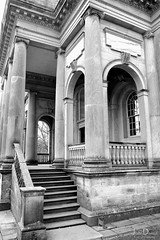 chapel | gibside (John FotoHouse) Tags: gibside nt nationaltrust chapel 2017 dolan flickr fujifilmx100s fuji johnfotohouse johndolan leedsflickrgroup copyrightjdolan bw blackandwhite church escher architecture