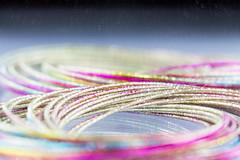 Space-age bangles (sueleigh1) Tags: canon700d madeofmetal macromondays mondays metal jewellery shine shiny bangles bracelets colours colors canon 700d inexplore explored explore space reflection colourful colorful