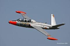 BAF Fouga Magister MT-35 in flight - 21-07-2006 11-08-29 kb juillet 2006 0136 mod et rét (vincent.lempereur) Tags: fouga fougamagister aircraft kb belgianairforce belgique baf avion plane airshow