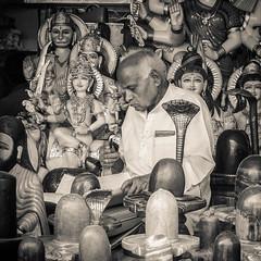 2008-03-11-_ India, Varanasi_P1140748.jpg (Mandir Prem) Tags: shiva street yoga lingam indian history temple varanasi ganesha travel life bw asia india people places hindu