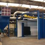 Geluidisolerende in- en uitlooptunnel ten behoeve van turbine straalmachine
