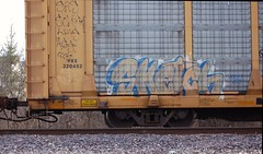 Sketch (Chicago City Limits) Tags: freight train graff graffiti benching rails railroad benched freights fr8s art artwork motion steel trains tracks auto racks rack autorack autoracks holy roller rollers sketch