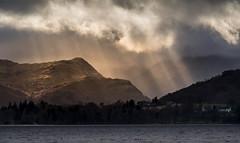 An Improving Forecast (Glenn D Reay) Tags: lakedistrict ullswater pooleybridge cumbria rays sunrays clouds mountains lake longfocallength rain pentaxart pentax k30 pentax50200wr glennreay