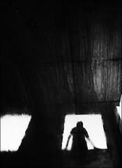 F_47A9869-2-BW-1-Canon 5DIII-Canon 16-35mm-May Lee 廖藹淳 (May-margy) Tags: maymargy bw 黑白 待 廢墟 窗框 地坪 水灘 倒影 街拍 streetviewphotographytaiwan 線條造型與光影 linesformandlightandshadows 天馬行空鏡頭的異想世界 mylensandmyimagination 心象意象與影像 naturalcoincidencethrumylens 台北市 台灣 中華民國 模糊 blur taiwan repofchina f47a98692bw1 portrait vynal floor water puddle window frames reflection view from back silhouette 人像 背影 剪影taipeicity canon5diii canon1635mm maylee廖藹淳 humaningeometry 雨後