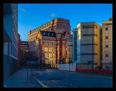 Morning Glow (Kevin, Thanks for over 5 Million Views) Tags: architecture canon1100d canon1855mm citycentre england hdr kevinwalker lancashire manchester northwest photoborder sky skyline university
