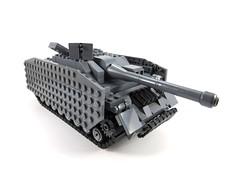 StuG front corner (suou44) Tags: military lego worldwarii worldwar2 panzer tank german tankdestroyer
