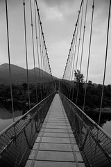 Bridge - Symmetry (Karthikeyan.chinna) Tags: karthikeyan chinnathamby chinn chinna canon canon5d canon5dmarkiii travel bridge symmetry bw black white karnataka gattikallu architecture hanging dof india