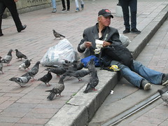 SEMANA SANTA - EASTER (maralolita1966) Tags: bogota colombia vejez soledad pobreza abandono palomas