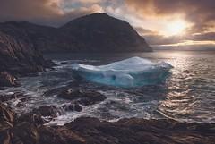 Big or Small… (Brad James ~ Nature Photography) Tags: iceberg newfoundland cove sunrise