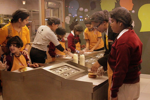 KidZania Tour for Kids with disabilities: The kids also learned the process of making burgers