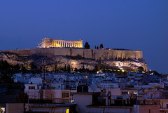 Acropolis and Parthenon, Athens (StephenTaylor430) Tags: throughthehotelwindow athens athenaeumintercontinentalathensgreece sightseeing hill mountain peak parthenon acropolis mountlycabettus lykavitos greek monument ancientgreece greekempire view vacation architecture stone tomb city