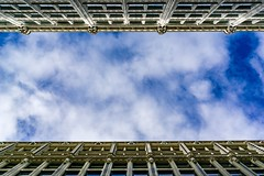 Look Up in Downtown Boston ((Jessica)) Tags: boston downtown lookup clouds sky massachusetts newengland buildings