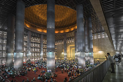 Entrance of the Devotees (Trent's Pics) Tags: istiqlal mosque devout indonesia islam jakarta kneel koran lifestyle muslim people prayer quran religion