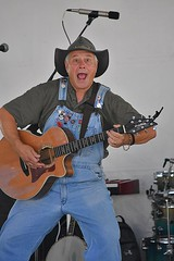 Old Time Country Music (swong95765) Tags: musician performer country music man guitar overalls hat image performing style singer singing dancing