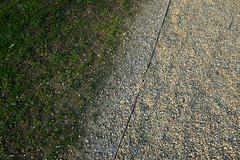 (blinq) Tags: impark park liechtensteinpark wien vienna gras grass wiese meadow schotter gravel textur texturen texture textures oberfläche oberflächen surface surfaces minimal minimalism