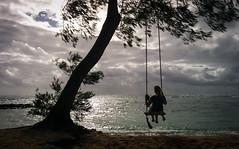 Waiting for the storm (thomas.essi) Tags: usa hawaii kauai swing beach ocean sea sunset sunsetlight storm clouds cloud shore