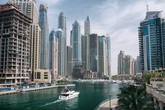 Dubai Marina (taipan_pl) Tags: dubai dubaj marina river canal yacht jacht zjednoczone emiraty arabskie united arab emirates skyscraper under construction wieżowce sky