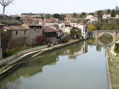 Reflections in the Baïse (Granpic) Tags: france aquitaine lotetgaronne nérac river baïse refelction