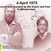 The history of Microsoft began on April 4, 1975, when it was founded by Bill Gates and Paul Allen in Albuquerque.