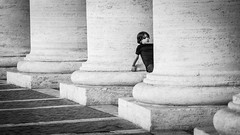 Mesmerizing the Bernini's colonnade (jcjocom) Tags: stpeterssquare colonnade bernini bnw vaticancity streetphotography monochrome stpeter rome