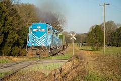 High Hood on the L&C (ajketh) Tags: lc lancaster chester freight local train railroad 16 emd gp38ac southern highhood sunrise farm field 2866 springmaid line