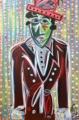 Domteur de Cirque (katja_weber_art) Tags: abstract expressionismus expressionism abstrakt kunst art modernart man painting gemälde domteur zirkus cirque circus