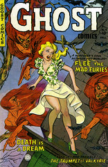 Ghost #4 (1952), cover by Maurice Whitman (Tom Simpson) Tags: ghost 1952 cover mauricewhitman 1950s woman dress girl goodgirl comics vintage art horror comicbook