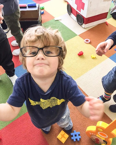 Cheeky little man found the teacher's glasses at Star Kids International Preschool, Tokyo. #starkids #international #preschool #school #children #toddler #kids #kinder #kindergarten #daycare #fun #shibakoen #minatoku #tokyo #japan #instakids #instagood #t