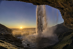 Days are getting longer, sunsets are getting more beautiful (Gryshchenko) Tags: iceland island wasser wasserfall водопад исландия water waterfall sunset sun southcoast закатсолнца закат sonne sonnenuntergang beautiful longer days rkvfoto infocus mycanon seljalandsfoss seljalandsfosswaterfall seljalandfoss