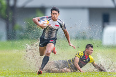 SEA Rugby 7s (BP Chua) Tags: sport rugby action splash water 1dx canon 400mm run singapore sea southeastasia